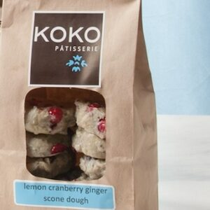 KOKO Lemon Cranberry Scone Dough (frozen) - 1 dozen