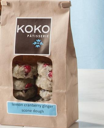 KOKO Lemon Cranberry Scone Dough (frozen) - 1 dozen